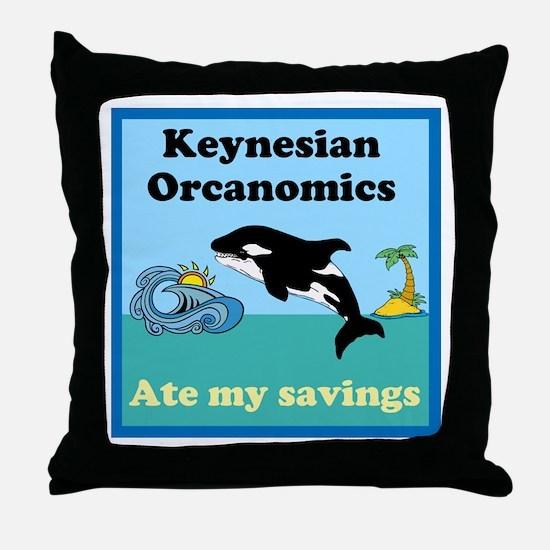 Orcanomics Throw Pillow