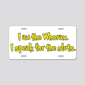 I am the Whorax Aluminum License Plate