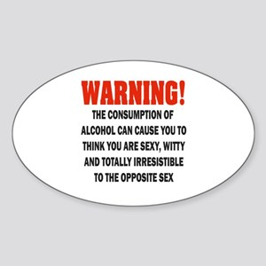 Warning - Irresistible Sticker (Oval)