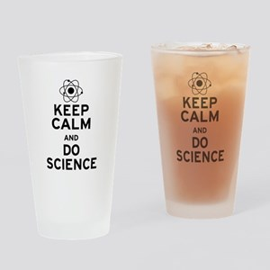 Keep Calm and Do Science Drinking Glass