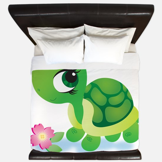 Toshi the Turtle King Duvet