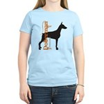 Grunge Doberman Silhouette Women's Light T-Shirt