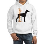 Grunge Doberman Silhouette Hooded Sweatshirt