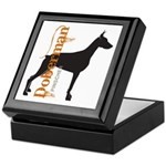 Grunge Doberman Silhouette Keepsake Box