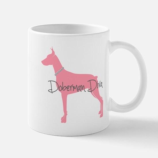 Diamonds Doberman Diva Mug
