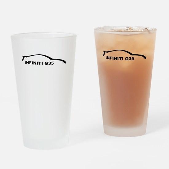Infiniti G35 Black Silhouette Drinking Glass
