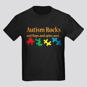 Autism Rocks... Kids Dark T-Shirt
