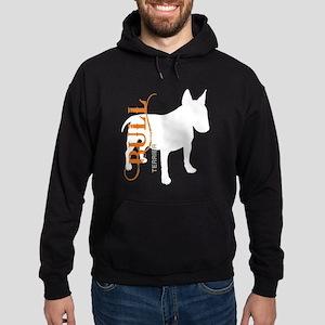 Grunge Bull Terrier Silhouette Hoodie (dark)