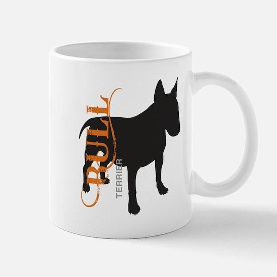 Grunge Bull Terrier Silhouette Mug
