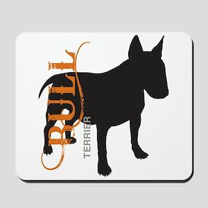 Grunge Bull Terrier Silhouette Mousepad
