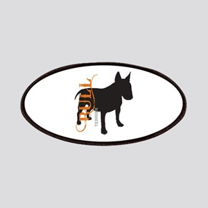 Grunge Bull Terrier Silhouette Patches