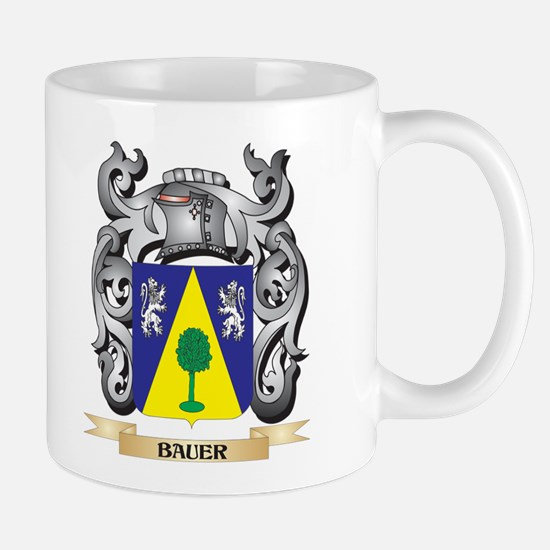 Bauer Family Crest - Bauer Coat of Arms Mugs