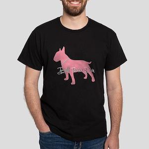 Diamonds Bull Terrier Diva Dark T-Shirt