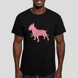 Diamonds Bull Terrier Diva Men's Fitted T-Shirt (d