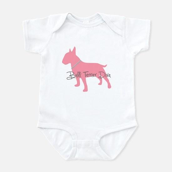 Diamonds Bull Terrier Diva Infant Bodysuit
