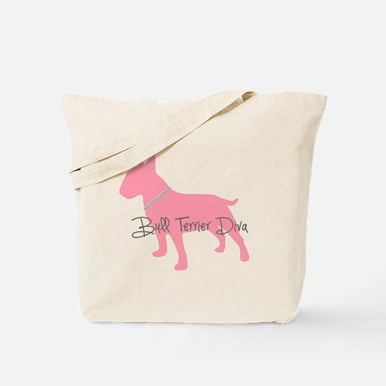 Diamonds Bull Terrier Diva Tote Bag