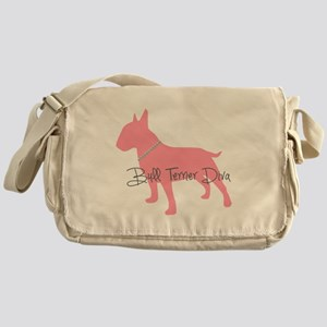 Diamonds Bull Terrier Diva Messenger Bag