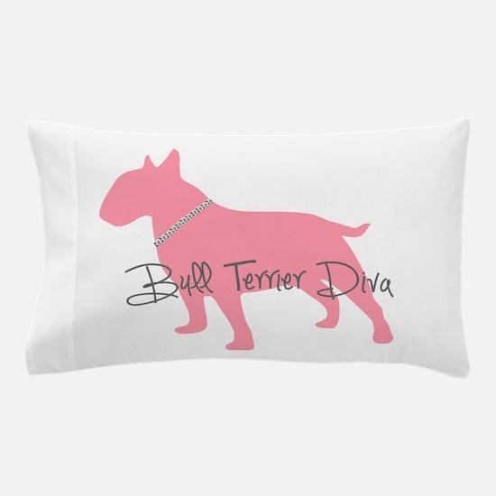 Diamonds Bull Terrier Diva Pillow Case