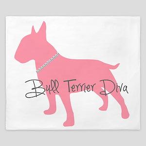 Diamonds Bull Terrier Diva King Duvet