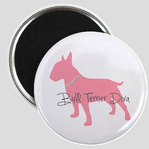 Diamonds Bull Terrier Diva Magnet