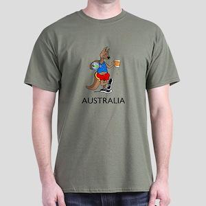 Australia Kangaroo Beer Dark T-Shirt