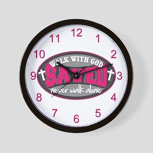 Walk With God(Pink) Wall Clock