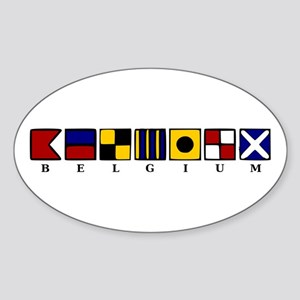 Nautical Belgium Sticker (Oval)