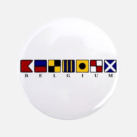 "Nautical Belgium 3.5"" Button"