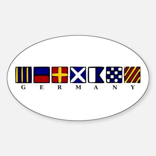Nautical Germany Sticker (Oval)