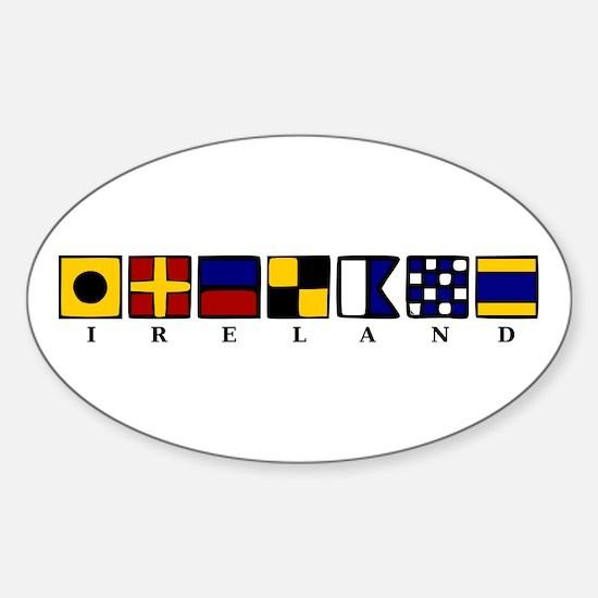 Nautical Ireland Sticker (Oval)