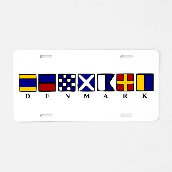 Nautical Denmark Aluminum License Plate