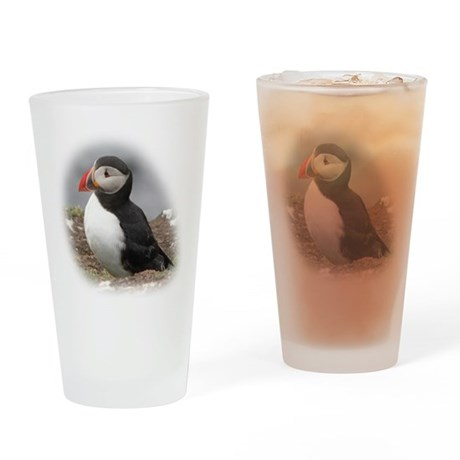 Atlantic Puffin Drinking Glass