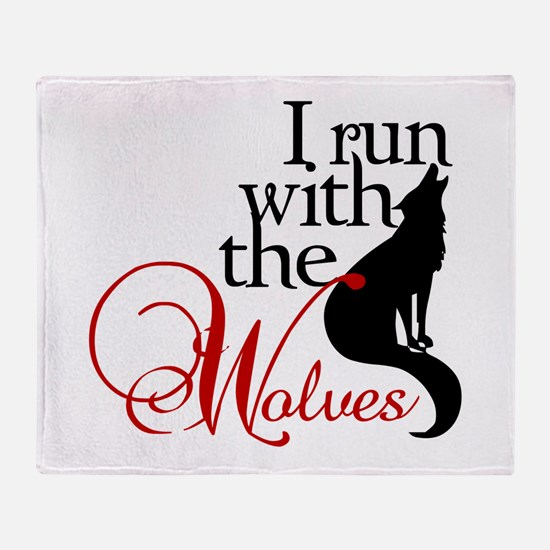 I run with wolves Throw Blanket