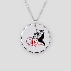 I run with wolves Necklace Circle Charm