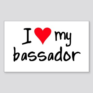 I LOVE MY Bassador Sticker (Rectangle)