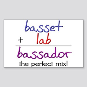 Bassador PERFECT MIX Sticker (Rectangle)