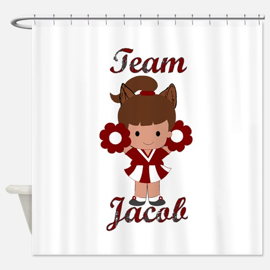 Team Jacob Cheerleader Shower Curtain