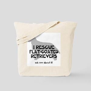 I RESCUE Flat-Coated Retrievers Tote Bag