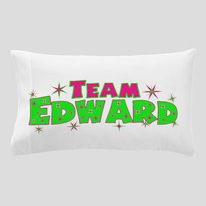 Team Edward pink green Pillow Case