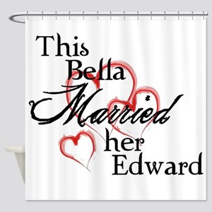 Bella married Edward Shower Curtain