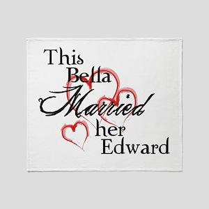 Bella married Edward Throw Blanket