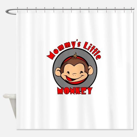 Mommy's little monkey (boy) Shower Curtain