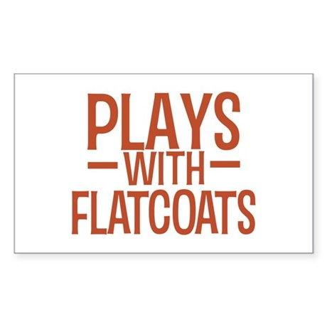 PLAYS Flatcoats Sticker (Rectangle)