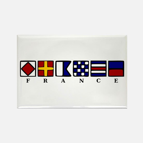 Nautical France Rectangle Magnet (10 pack)