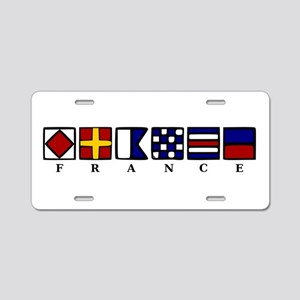 Nautical France Aluminum License Plate