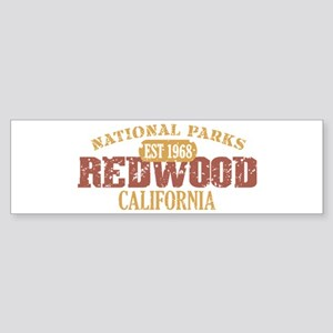 Redwood National Park CA Sticker (Bumper)
