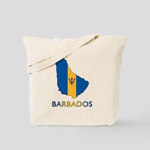 Map Of Barbados Tote Bag