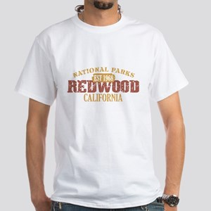 Redwood National Park CA White T-Shirt