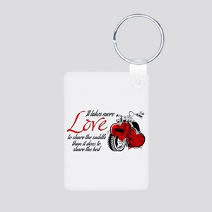 Biker Love Aluminum Photo Keychain