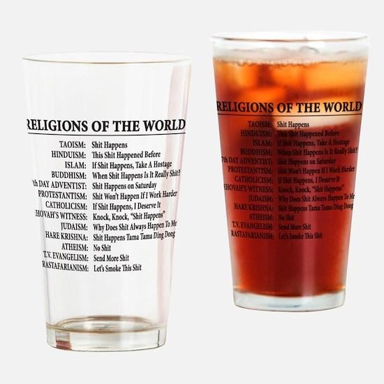Unique Buddhism Drinking Glass